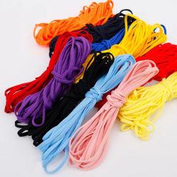 처분할 수 있는 마스크를 위한 싼 Polyester+Spandex 5mm 편평한 많은 색깔 다채로운 두 배 코드 고무 밴드