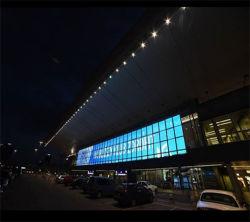 P31mm DIP Aluminum Great Ventilation Building 외관 장식 그리드 LED 화면
