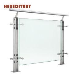 Balcon en verre personnalisé balustrade 304/316courante de la Chambre des images en acier inoxydable