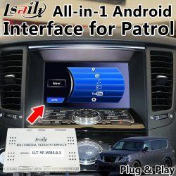 All-in-1 Plug&Play Android Interface GPS Navigator per Nissan Patrol con Google Play, Yandex, Youtube, controllo Dei Pulsanti OEM
