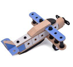 جدي [برينقودوس] [جوغتس] [مونتسّوري] [ديي] أداة تربويّ خشبيّة طائرة اجتماع لعب لأنّ فتى لعبة