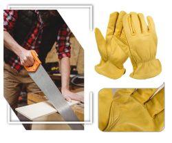 La minería y construcción de guantes de cuero