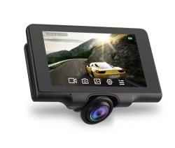 360 градусов Car DVR с двумя объективами Cam Dash 4,5-дюймовый сенсорный экран Full HD 1080P устройство записи видео с камеры заднего вида