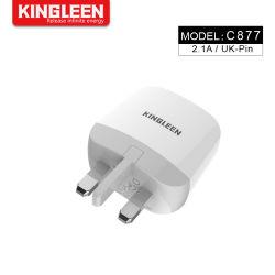Britse van de Lader van de Reis van de Adapter van de Macht van de Lader 5V/2.1A van de Muur USB de Universele Draagbare Adapter van de Stop voor Mobiele Telefoon