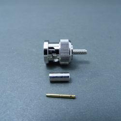 75Ом штекер BNC обжимной коаксиальный разъем для кабеля RG179