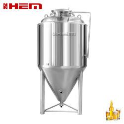 Inicio el equipo de preparación y el hoyuelo revestido cónico de la cerveza fermentador 10bbl cuba de fermentación/cerveza Unitank