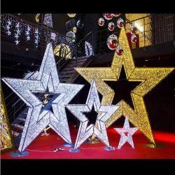 Nova chegada madeira LED Motivo de Natal Anjo estrela do floco de neve do ornamento da luz nocturna pendentes para decoração de árvore de Natal a energia da bateria