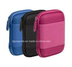 Enganche o mosquetão da moda personalizada de disco EVA Câmara levar a bolsa de viagem caso, disco EVA de armazenamento da Ferramenta de protecção lápis preto Zipper Protecitve Estojo de transporte