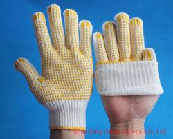 Puntos de PVC Guantes de algodón buen apretón de mano de obra/construcción/Jardín las obras de seguridad