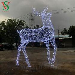 Animados da decoração grandes férias de Natal 3D Giant Renas Luzes Motif