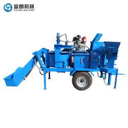Masse comprimé hydraulique semi-automatique de la terre argileuse pavés à emboîtement Fabrication du bloc de presse de prix des machines de la machine