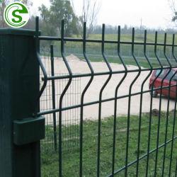 경계 벽을%s 검술하는 싼 옥외 안전 PVC에 의하여 입히는 용접된 철망사