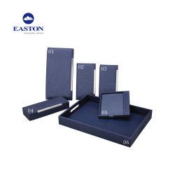Bleu Marine Design spécial cuir synthétique des commodités de l'hôtel personnalisé