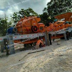 Mittlerer Kapazitäts-Mähdrescher verwendete mobile Steinzerkleinerungsmaschine