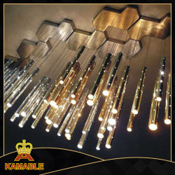 Interior Casa Moderna de acero inoxidable decorativa Iluminación LED colgante de acrílico
