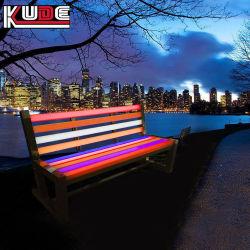 Decoración silla de jardín de flores de LED se encienden las luces de estacionamiento decoraciones PE Presidente