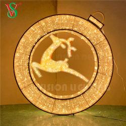 Acryl leuchten Ring-Motiv-Weihnachtskugel-Lichtern LED-3D