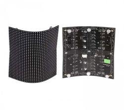 Tela LED flexíveis P4 borracha macia módulo LED 256*128 mm Pixel Pequeno e leve 3 mm de espessura