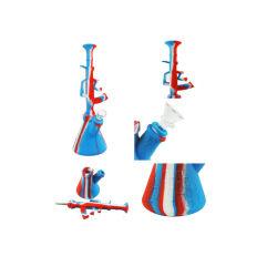 H47 Silicone funcional de venda superior fumar Nectar Collector Pistola de concentrado de óleo de cera do tubo de água