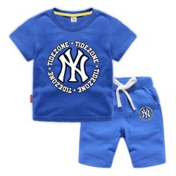 Летние дети мальчики девочки одежда наборы случайных детей спортивный костюм