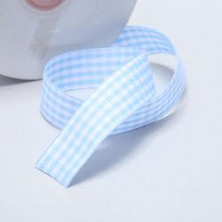 Venda por grosso de fábrica 3 mm -100 mm Plaid Fitas de treliça de Fita Azul decoração para Arcos de cabelo