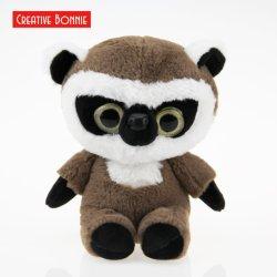 Peluches Peluche tejido de Pelo de cola de conejo sentado Lemur 20cm