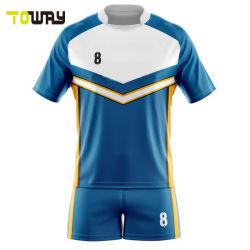 Comercio al por mayor impresas por sublimación de la mens personalizadas Camisetas de Rugby transpirable