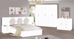 La salle de séjour MDF Finition papier ensembles de chambre à coucher lit ancien lit Classique Accueil Mobilier Coiffeuse lit superposé lit armoire latérale