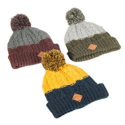 Pompom Jacquard brassard de la promotion de la bille Haut Chapeau tricoté