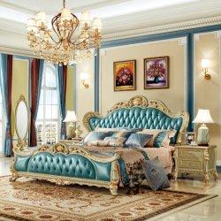 Dormitorio cama de madera y mueble aparador de madera Muebles de Dormitorio