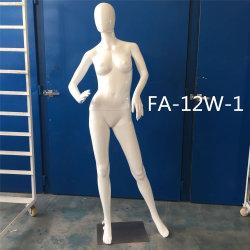 Assez de ne pas la fibre de verre en plastique blanc brillant de robes de mannequin d'affichage femelle