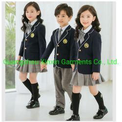 Fabricación propia del logotipo de tamaño personalizado estudiante japonés otoño invierno de los niños de uniforme escolar Coat Blazer (U174)