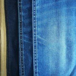 Warp Slub estirar el tejido Denim de algodón con Lycra de cáñamo para prendas de vestir jeans