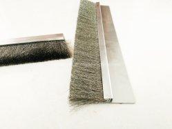 De vuelta de la puerta de metal de Nylon Cepillo de la banda de acero inoxidable aluminio