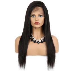 De chemische Hand van de Pruik van de Vezel Zwarte Lange Rechte - het Geweven Haar van Doll