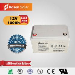 Batteria del gel di Rosen 12V 100ah utilizzata come batteria solare