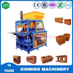 Les petites entreprises Industries Xm4-10 sol argileux avec haute capacité de machine à fabriquer des briques de verrouillage