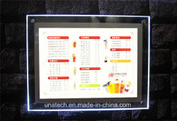 Publicidad Caja De Luz Displayの水晶ライトボックスを広告する壁の台紙LED
