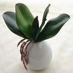 Varilla de hojas de orquídeas artificiales de seda de bricolaje Accesorios para decoración de boda Inicio partido
