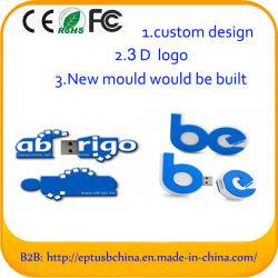Custom 3D 2D Pen Drive Flash USB de PVC para identificação de marca