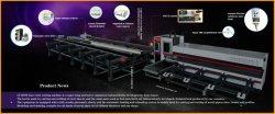 Jinan Acme Fibra CNC de corte a laser/máquina de corte totalmente automático de alimentação de energia do Laser 2000W 3000W 4000W para tubo metálico de aço carbono Aço Inoxidável Big Diamater