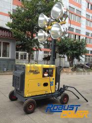 건설 라이팅 타워 4X160W 이동식 비상 작업등