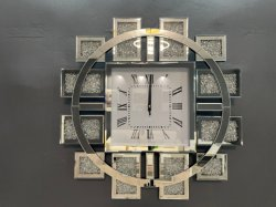 ساعة حائط ذات مرايا ميكانيكية بأسلوب زجاج منقذ عالي الجودة