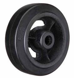 Roda de Ferro Fundido de borracha preta Rodinha para Serviço Pesado