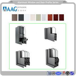 Windowsおよびドアおよびカーテン・ウォールのためのアルミ合金の物質的なプロフィールのアルミニウムまわりを回るプロフィールそして建築材料