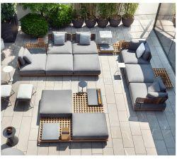 ノルディックデザインチークウッドの屋外家具ガーデン家具ソファセット