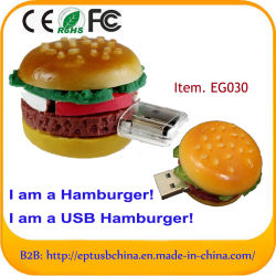 8 GB de PVC 3D Mini-Hamburger Unidade Flash USB de alta qualidade/preço de fábrica
