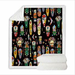 Super suave forro polar Manta de tapa conjunto de ropa de cama King Size con 3D de la cultura de la impresión digital en Africa