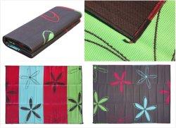 ZNZ 100% Polypropyleen kunststof Reversible PP Straw Blanket Factory 6X9, 9X12 met draagtas Opvouwbaar bed voor buiten Patio Beach Picnic RV Camping Garden Mat