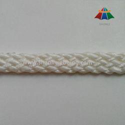kabel van de Vlecht van 7mm de Witte Vlakke Nylon